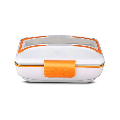 WCHJL Fiambrera eléctrica Calefacción doméstica Fiambrera aislada Calefacción eléctrica Fiambrera (Color : Orange)