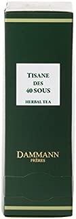 Dammann Frères - Herbal Tea TISANE des 40 Sous - 2 x boxes of 24 enveloped Cristal sachets (48 count / tea bags)