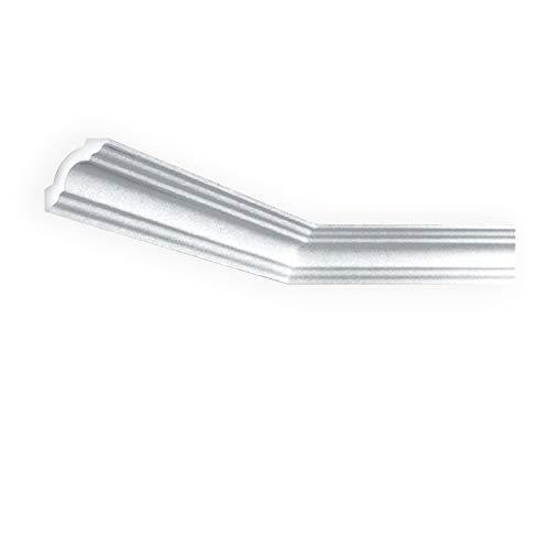 A la Maison Ceilings KL50pw-5 Mgiuel DIY Glue-up Foam Crown Molding (Pack / 32.5 ln. ft.), White