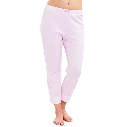 Rösch - Damen Schlafanzug Hose - 86 cm lang (40 Aurora Pink)