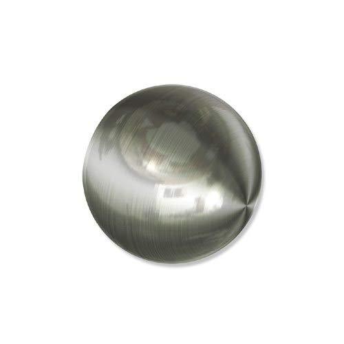 INTERDECO Endstücke Kugel Edelstahl-Optik aus Metall für Gardinenstangen 20 mm Ø (2 Stück)