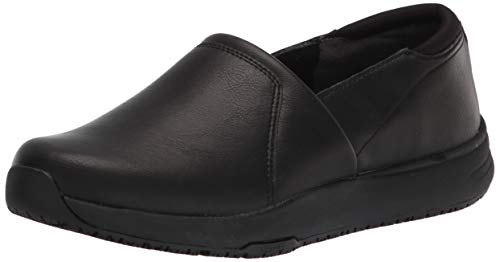 Dr. Scholl's Shoes Women's Dive in Slip-Resistant Slip On, Black Smooth, 10 Wide