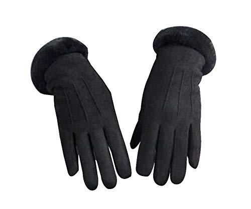 Black Temptation Frauen Winter Warme Handschuhe Fahren Handschuhe Radfahren Handschuhe [Schwarz]