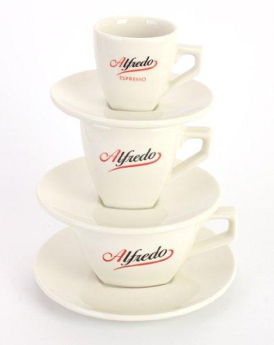Alfredo Kultserie Tassenturm für Espresso, Cappuccino & Caffé elfenbeinfarben
