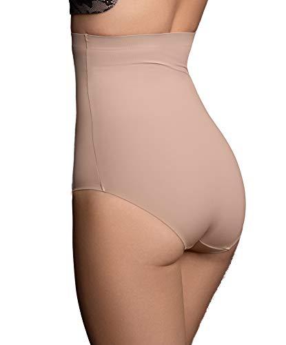 Onzichtbare slip met hoge taille, Naadloze Shapewear, licht buik corrigerend ondergoed, soepel corrigerend en comfortabel ondergoed, nude en zwart, S-XL