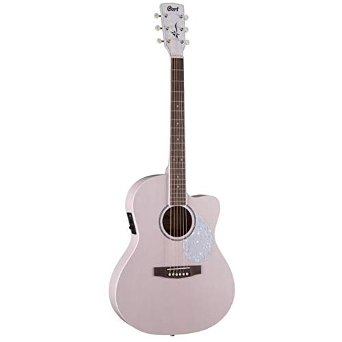 Cort Jade Classic - Guitarra electroacústica serie JADE - Rosa pastel poros abiertos (+ funda)