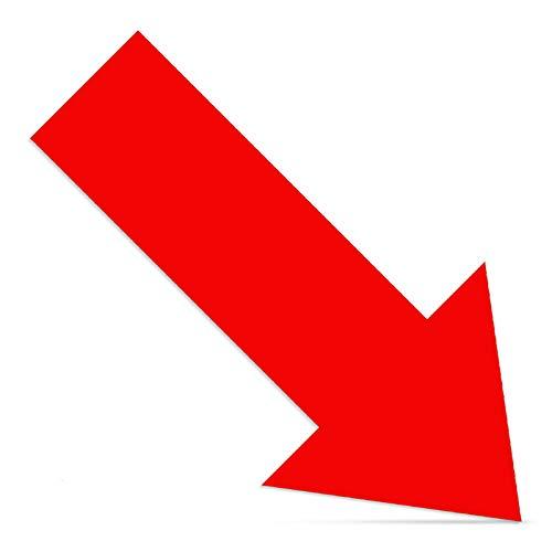 Cinsey 20 Pack Pegatina Flechas Adhesivas Suelo Rojo,30 * 15cm Vinilo Autoadhesivo Pegatinas de Seguridad para Indicación Recorrido Seguridad