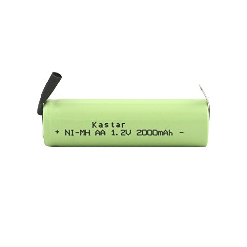 Kastar Rechargeable Shaver Battery Pack AA 1.2V 2000mAh Fits Braun, Norelco, Remington Shaver Models and Others (deatil Compatible Models Please Search The Below Description)