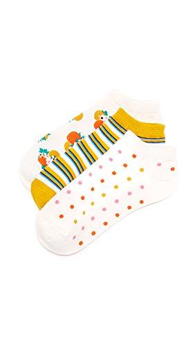 Kate Spade New York Women's Orangerie Sock Set, Cream Multi, One Size