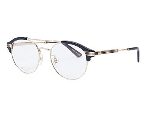 Gucci GG0289O-001-51 Brillengestell, glänzend Schwarz/Gold, 51.0 Unisex-Adulto