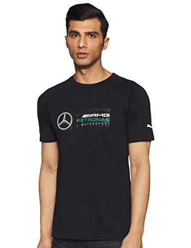 MERCEDES AMG PETRONAS Herren Mercedes Amg Logo Tee, M T-Shirt, Schwarz (Black Black), Medium (Herstellergröße: M)