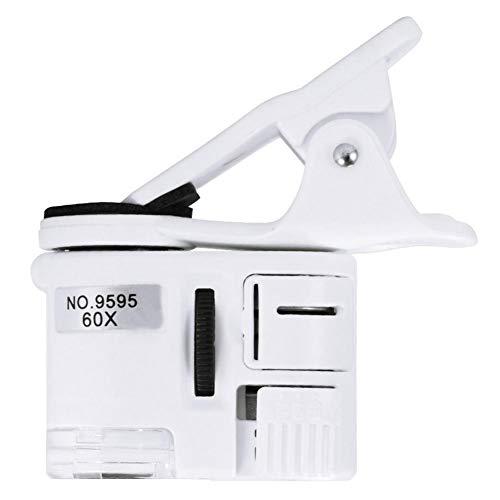 PiniceCore Universal-60x Mikroskop Led-uv-licht-Clip-on-Kamera Abnehmbaren Clip Micro-objektiv Für Smartphone Handy-objektiv