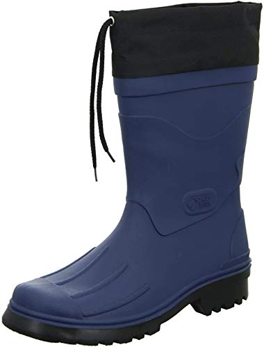 Bockstiegel Gummistiefel in Übergrößen Blau Nils - Dk-Blau/Schwarz große Herrenschuhe, Größe:45