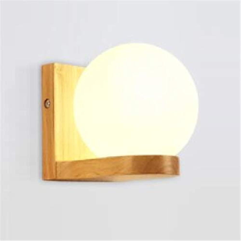 Kronleuchter Niedrige Nachttischlampen Der Skandinavischen Wandlampe Kreative Runde Des Massivholzmodernen Unbedeutenden Gangschlafzimmerraumes