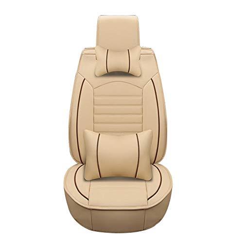HRFHLHY Automobil-Innendekoration Wear-Resistant Leder-Auto-Sitzabdeckung Kompatibel mit Mercedes-Benz,Beige,E300