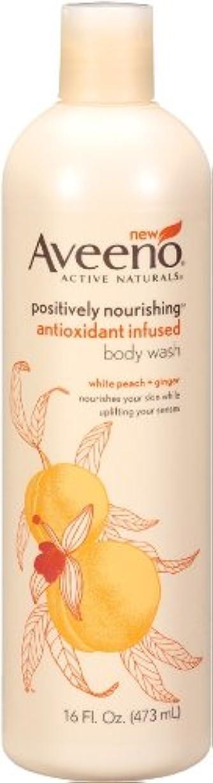 気質感じる尊敬するAveeno Positively Nourishing Anti-Oxidant Infused Body Wash White Peach + Ginger, 16 Ounce (Pack Of 2) by Aveeno