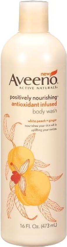 醜い仲間、同僚枯渇するAveeno Positively Nourishing Anti-Oxidant Infused Body Wash White Peach + Ginger, 16 Ounce (Pack Of 2) by Aveeno