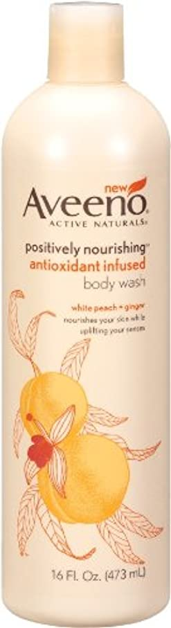 見える恐ろしい露Aveeno Positively Nourishing Anti-Oxidant Infused Body Wash White Peach + Ginger, 16 Ounce (Pack Of 2) by Aveeno
