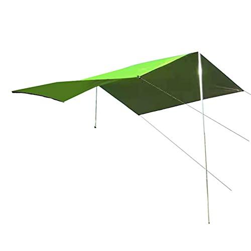 GXYAWPJ- Protección Solar para Coche Toldo de Refugio Campaña Tarp Impermeable Al Aire Libre Puntal Ajustable Grande Lona para Acampar Portátil Anti-uv Multifuncional Oxford Shade Clot(Size:300×150cm)