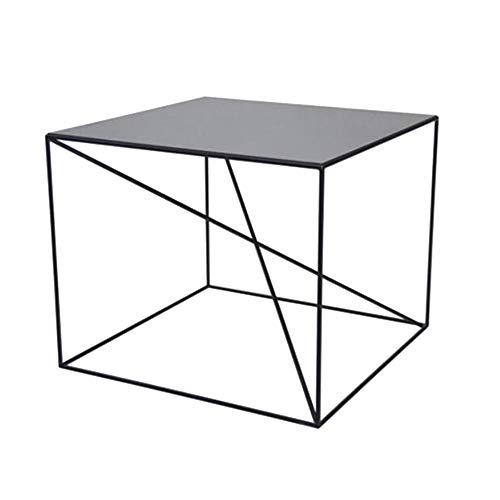 Jcnfa-bijzettafel 19.68-Inch Modern Zwart Metaal Vierkant Bijzettafel, 2 kleuren