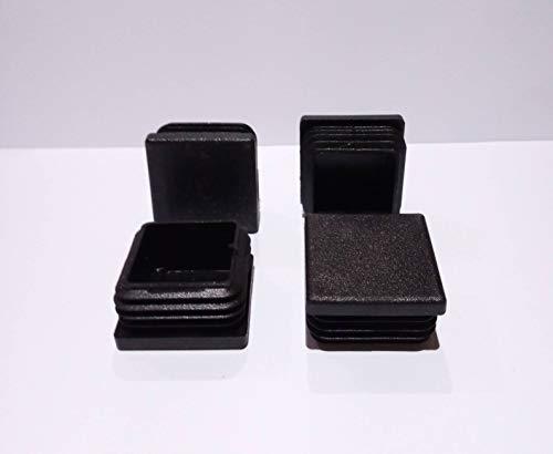 Terminale per gambe di mobili quadrate, 35 x 35 mm, nero | Tappo per gambe di sedie / Trampoline/Armadio/Scaffale / Letto (EMB35C) (12)