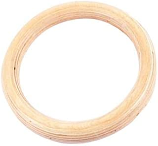 Wood Gymnastic Rings, 28/32MM Olympic Gym Rings Birch Fitness Rings Great for Workout, Home Gym, Body Building, Pull-Ups and Dips (Lifting Rope is Not Included) (1PC 28CM)