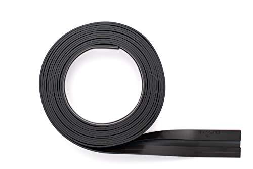 Durable 470801 Banda magnética Durafix Rollo de 5 m, banda autoadhesiva para la sujeción magnética de documentos, se puede cortar a medida individualmente, negro