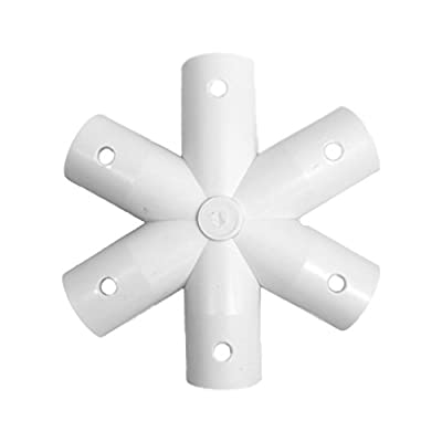 "Sonostar Hub - Geodesic 6-Star 1/2"" PVC Standard Hub Dome Connector (White)"
