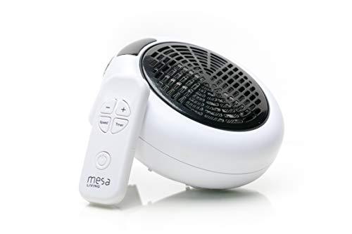 Mesa Living Insta Heater | Steckdosen Heizung 600 W inkl. Fernbedienung | 12h-Timer | Tragbarer Heizkörper für die Steckdose |