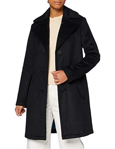 Armani Exchange Caban Coat Abrigo de Vestir, Black, L para Mujer