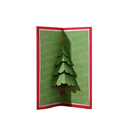 Fustelle in metallo con albero di Natale pieghevole 3D compatibile con la maggior parte delle fustellatrici in metallo per taglio fai da te