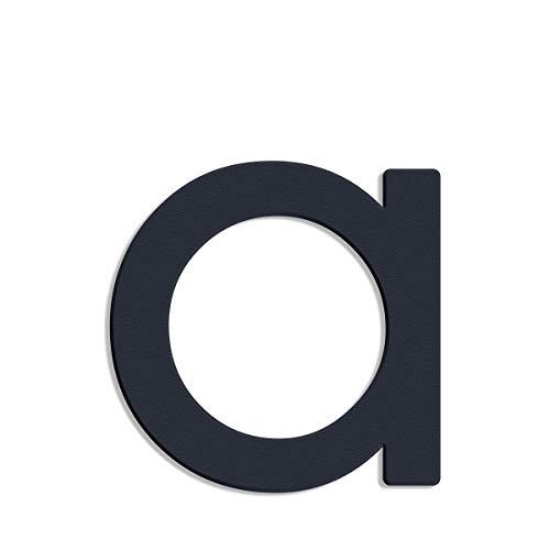Thorwa® Design Edelstahl Hausnummer modern Avant Garde Stil, anthrazit pulverbeschichtet, H: 200mm, RAL 7016 (a)