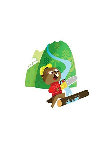 Decoloopio stickers voor kinderen: Castor voor kettingzaag 40 x 43 cm Meerdere kleuren