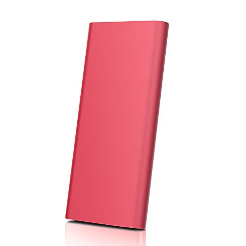 Disco Duro Externo 2tb USB 3.1 Disco Duro Externo para Mac, PC,MacBook, Chromebook, Xbox (2tb, Rojo)