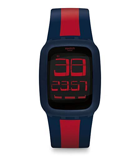 Swatch Reloj Digital para Unisex Adultos de Cuarzo con Correa en Silicona SURN101D