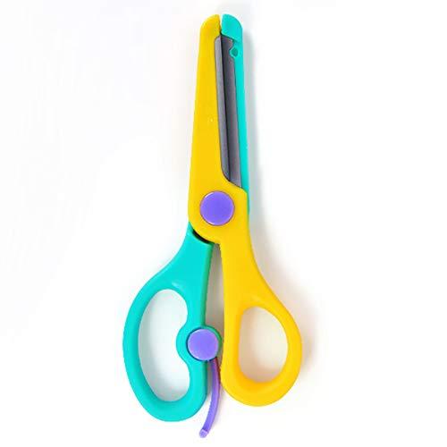 Kinderschaar veiligheid handgemaakte plastic baby veiligheid trompet kunst papier-snijden mes ronde kop speelgoed doet geen pijn handen,M2