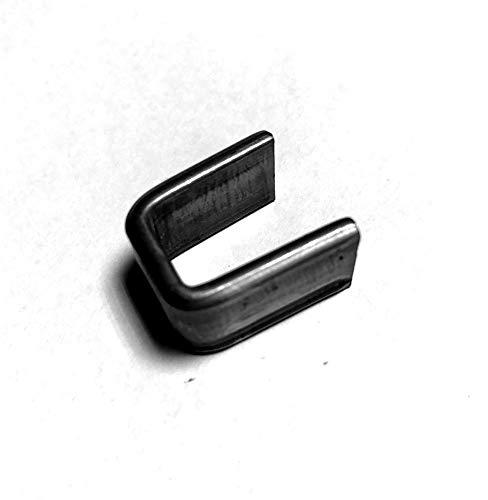 Fenau | Bund/Zier-Bund | 100 Stück | Material: 14x3 mm | Innenmaß: 11x24 mm | Stahl (Roh) S235JR