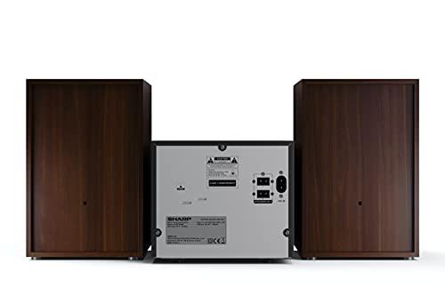 SHARP XL-B512 (BR) Stereo-Soundsystem (45 Watt, Radio mit FM-Tuner, Bluetooth), braun