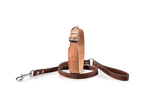 Karlie Halsband Kork, 50cm/30mm, kastanie