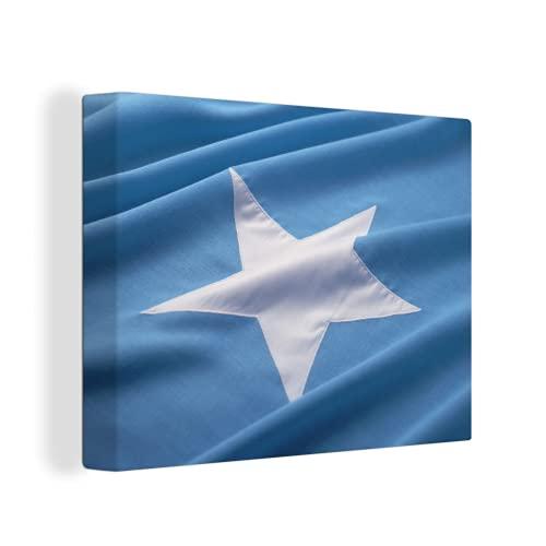 Leinwandbild - Nahaufnahme der Flagge von Somalia - 120x90 cm