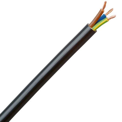 Kopp 153705007 Schlauchleitung H05 VV-F 3G, 1.5 mm², 5 m, schwarz