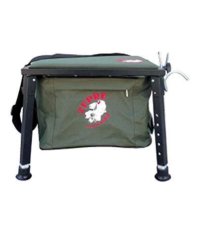 Zepre Panchetto a 6 Tasche con Tessuto Oxford con appoggiacanne Misure Sedile+Borsa 28x38x20 Piedi allungabili 26x40