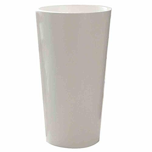 EURO3PLAST Tuit Pot de Fleurs Blanc Ø 40 cm