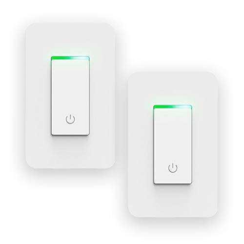 Smart Light Switch Wi-Fi Control Lighting from Anywhere, (Single-Pole Only), No Hub Required, Works With Alexa, Google Assistant and IFTTT. Remote Control, Timer Function pack of 2, by J&B Energy