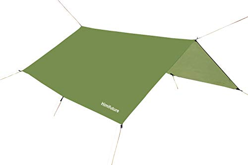 3m x 3m Waterproof RipStop Rain Fly Hammock Tarp Cover Tent Shelter Tarpaulin for Camping Hiking Outdoor Travel