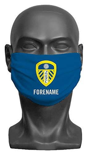 Personalised Leeds United FC Crest Adult Face Mask - Medium
