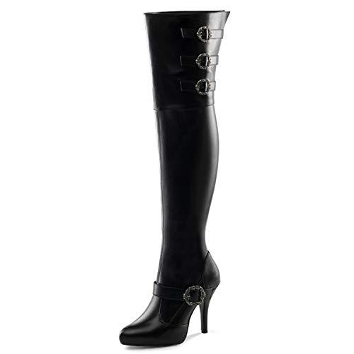 Higher-Heels Funtasma Weitschaft-Stiefel Diva-3006X Mattschwarz Gr. 41,5