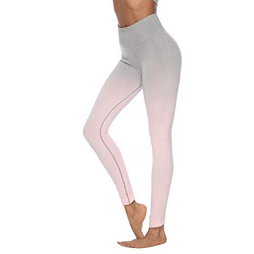 KKIMISPORT Damenhosenanzug Yogahosen Hüften eng anliegend schnell trocknende Gymnastikhosen Tops Hosen M