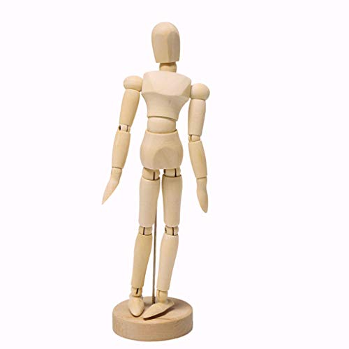 S-TROUBLE Artista de 1 Pieza extremidades móviles Figura de Madera Masculina Modelo maniquí Dibujo de Clase de Arte