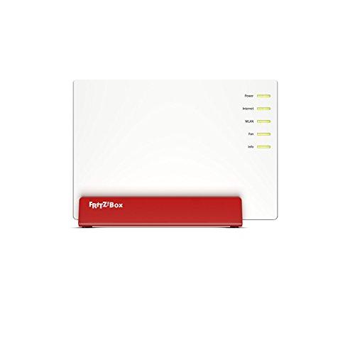 AVM FRITZ!Box 7580 WLAN AC + N Router (VDSL-/ADSL-/ADSL2+-Modem, 4x4 MU-MIMO mit 1.733 (5 GHz) + 800 MBit/s (2,4 GHz), DECT-Basis, Media Server)